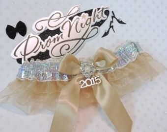 Prom Garter, Champagne Prom Garter, Custom Color Prom Garters, Garters, Champagne Garters, Wedding Garters