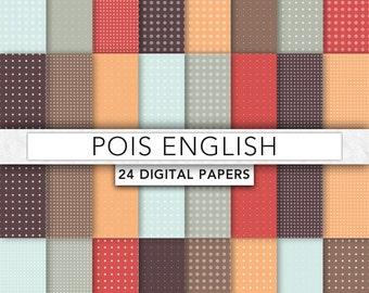 Pois digital paper,dot digital paper,Brown dot,Brown pois paper,pois Texture,pois scrapbook,Digital Scrapbook Paper -P001