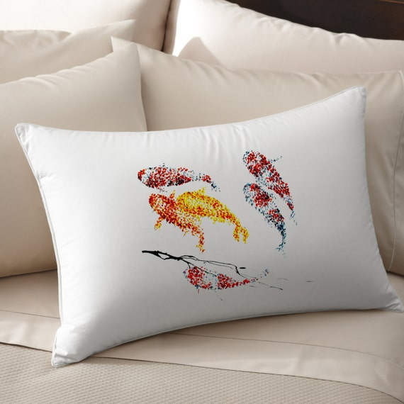 Fish decor pillow art pillow cover pillow by feldmosbrothers for Fish throw pillows