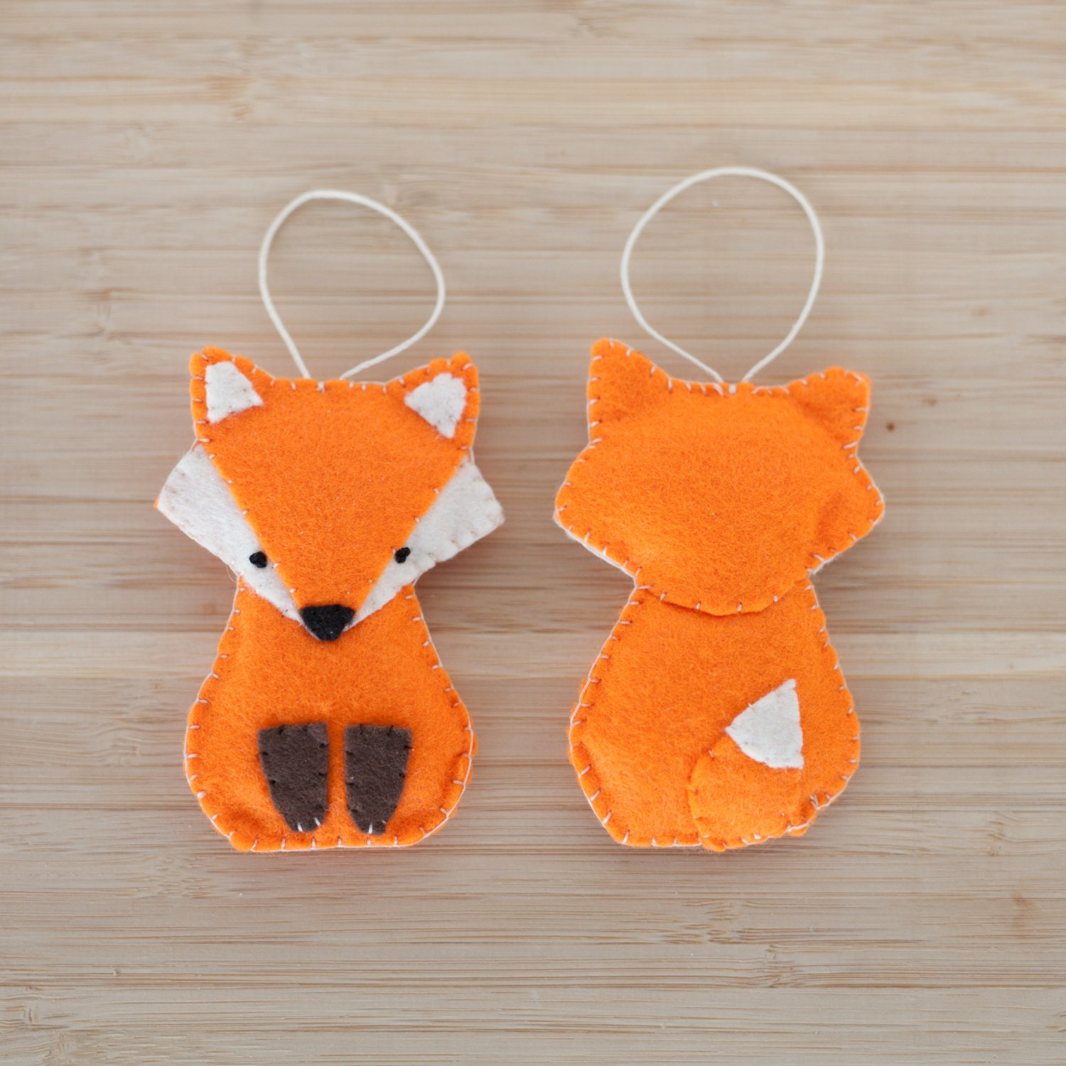 Felt Fox Ornament Handmade Fox Ornament Decorative Fox