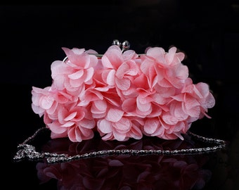 Bridal Clutch Petal Clutch Bridesmaid Bag Flower Pouch Bag