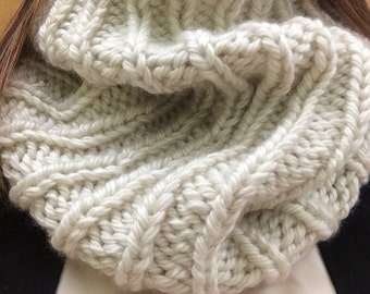 Knit cowl- extra long