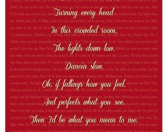 Mean to Me Song Lyrics - 8x10 Print