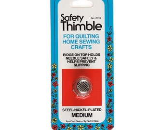 Safety Thimble by Collins ~ Size Medium ~ Item # W-113