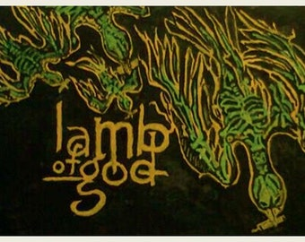 SOLD: My Repro ~ Lamb of God 'Ashes of the Wake' album art (I do not own any rights to the original artwork)