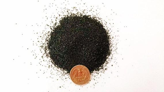 Crushed Gemstone For Inlays : Crushed jet stone inlay fine and medium by myworldofwood