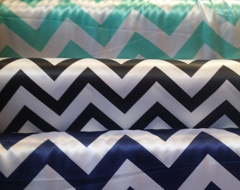 Chevron Print on Polyester Satin, 58'' wide, *sold by the yard*