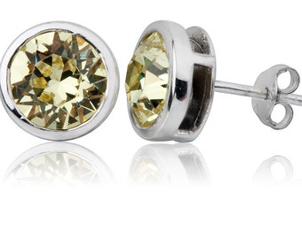Jonquil Round 8mm Stud Earrings