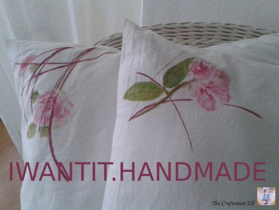 Cojines y almohadones hechos y pintados a mano una firma - Cojines pintados a mano ...