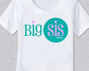 Sibling pretty Girl Big Lil Sister Tshirt Shirt