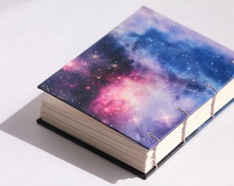 Galaxy handmade journal- notebook, sketchbook -