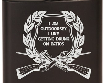 I'm Outdoorsey 6 oz. Stainless Steel Flasks