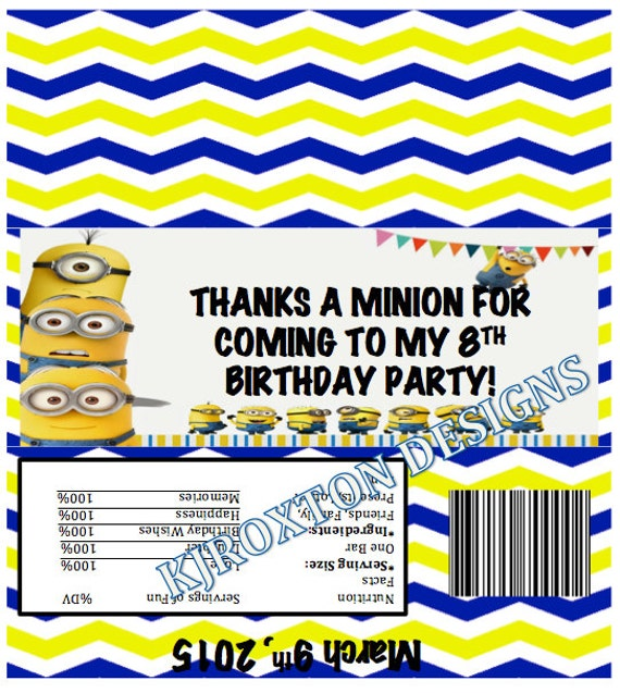 how to make minion candy bags