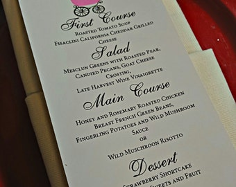 Baby Carriage Menu    Menu Card    Couture Menu    Baby Shower Menu