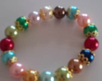Beaded Bracelet in Assorted Colors  (#51)
