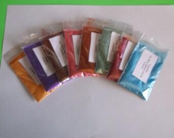 Natural Mica Cosmetic Grade Loose Powder Colorant Set of 8