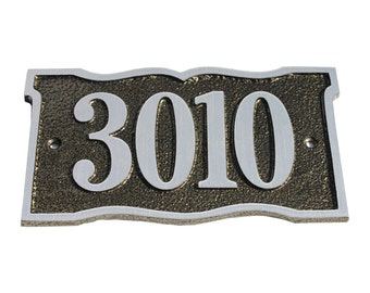 Majestic MFG Aluminum or Brass Prairie Dupont Address Plaques House Numbers ** Made in the USA ** ** Free Shipping**