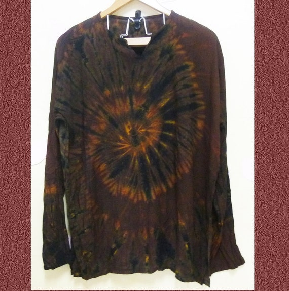 brown black tie dye long sleeve tshirt rayon t by workoutshirts. Black Bedroom Furniture Sets. Home Design Ideas