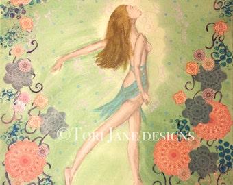 Dancer Art, Dancing Art, Dancer Painting, Dance Painting, Ballerina Art, Ballerina Painting, Ballet Art, Ballet Painting, Mixed Media, PRINT