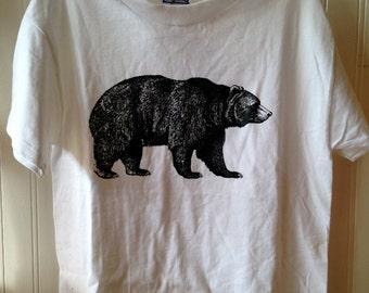 """Youth white """"bear"""" shirt"""