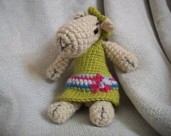 Knitted miniature sheep Marusia