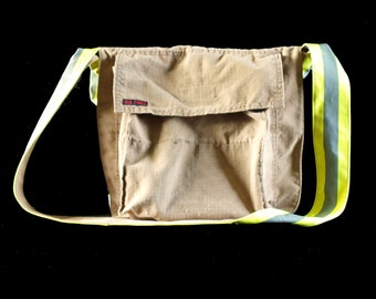 Chief LB - Messenger Bag, up-cycled from firefighter gear