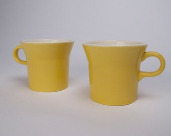 Sunny Day Yellow Coffee Mugs  SET of Two