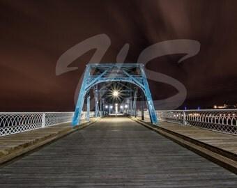 Night Storm over Walnut Street Bridge