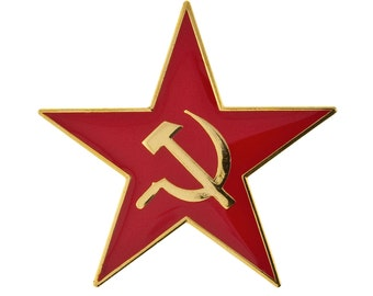Red Star With Hammer & Sickle Pin