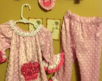 Cupcake dress binky fabric