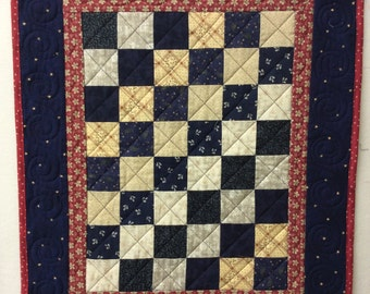 Pieced and quilted table runner