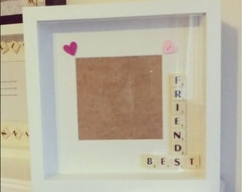 Best Friends Scrabble Inspired Photo Frame