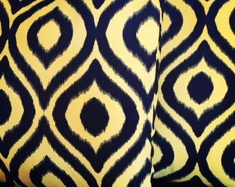 Yellow and Black cushion 45cm x 45cm (Cover Only)