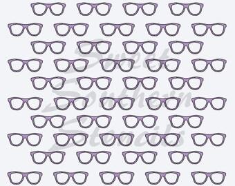 Glasses Stencil
