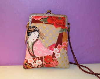 Japanese bagt with kiss clasp