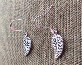 Fine Filigree Leaf Earrings