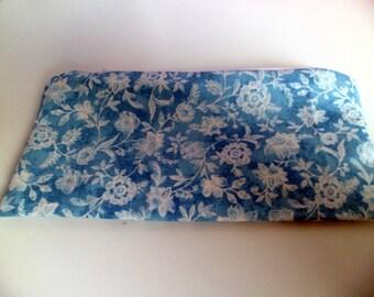 Blue floral Make up/Cosmetics bag