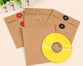 50pcs  15*13 cm Kraft paper box CD/DVD packaging box/bag