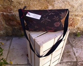 Flowery Cotton fabric shoulder bag handbag Tote Bag Purse