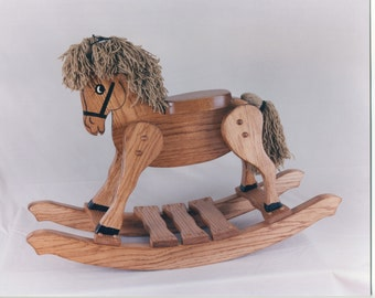 Large Classic -  handcrafted, hand painted Classic Rocking Horse.