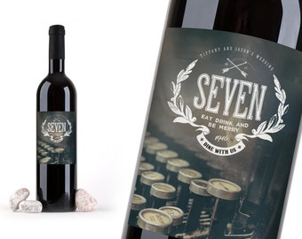 WEDDING TABLE NUMBERS -- Wine bottle numbers add style and vintage Antique flair. Wine Bottle Labels Wedding Table Numbers