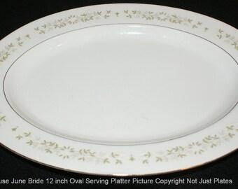"Berkeley House June Bride 12"" Oval Serving Platter"