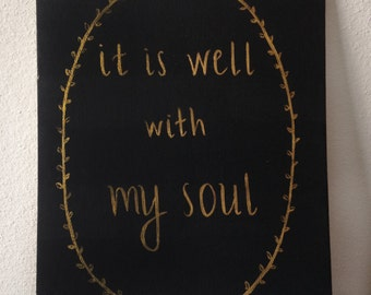 It Is Well With My Soul canvas