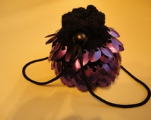Dragon scale maille dice bag