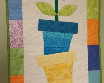 Tilted Flower Pot Wall Hanging-custom make to order