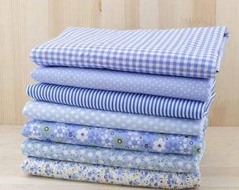 Fat Quarter Bundle - thin - SKY BLUE collection - 7 fat quarters