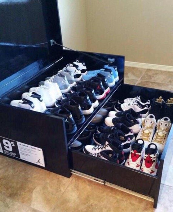 Air Jordan Replica Shoe Box Store Up To 14 Pairs Of By