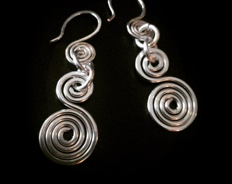 Inspirals Handcrafted Fine Plated Silver Earrings