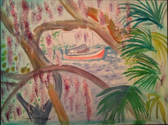 Emerson Point Preserve by T.R. Jackson 12x16 original watercolour 300lb arches paper Windsor Newton professional level paints