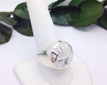white lantern inspired ring